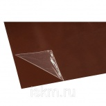 Лист оцинкованный с покрытием 0,4х1250х2000 мм PE 387 темно-коричневый, Санкт-Петербург