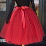 Красная пышная юбка пачка из фатина, Санкт-Петербург