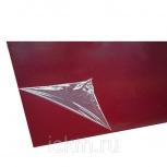Лист оцинкованный с покрытием 0,4х1250х2000 мм PE 758 (красный), Санкт-Петербург