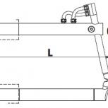 Верхнее изогнутое плечо 800мм (тип С) для клещей 3322 - TECNA 4871, Санкт-Петербург